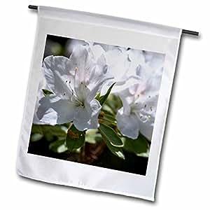 PS Flowers - White Azalea Floral Print - Spring Garden - 18 x 27 inch Garden Flag (fl_57884_2)