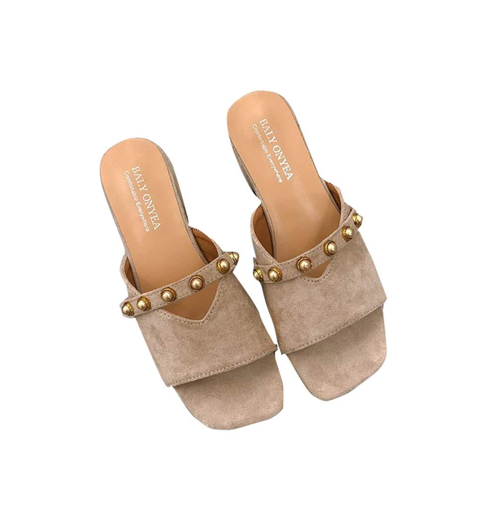 YUCH Sandales Femme Rough and 15459 Femme B07CZ7LV1Y Slippery Slippers Kaqi f560142 - fast-weightloss-diet.space