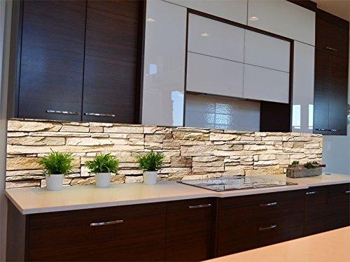 Dalinda® Küchenrückwand Küchenboard Küchenrückseite mit Design Asian Stonewall KR070