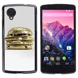 Licase Carcasa protectora para LG Google Nexus 5 - Golden Hamburger