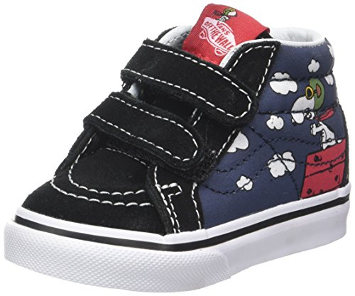 Vans Toddlers Sk8-Mid Reissue V (Peanuts) Flying Aces/Dress Blues VN0A348JOHK Toddler -