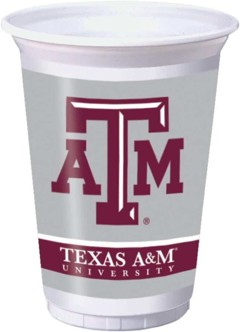 Creative Converting Texas A & M University Plastic Cups, 20 oz-8 pcs, One Size, Multi Color