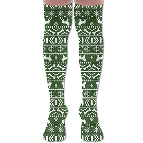 Brussels Griffon Costumes - Brussels Griffon Fair Isle Christmas Wanderlust Air Travel Compression Socks For Men & Women. Guaranteed To Prevent Swelling, Pain, Edema.