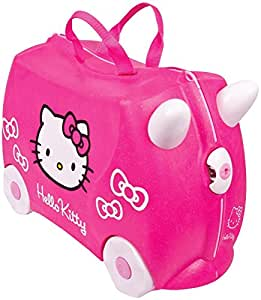 Trunki Original Kids Ride-On Suitcase and Carry-On Luggage - Hello Kitty (Pink Sparkle)