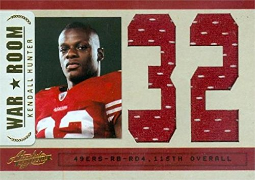 Kendall Hunter player worn jersey patch football card (San Francisco 49ers) 2011 Panini Absolute War Room #23 LE...