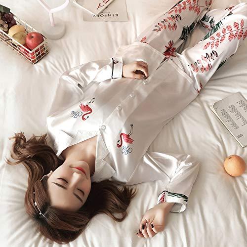 Tops Pantalón Conjunto De Seda Pijama Ropa Pijamas Ahsxl Largo Mujeres Xxl Femeninos Dormir ZOqvFI