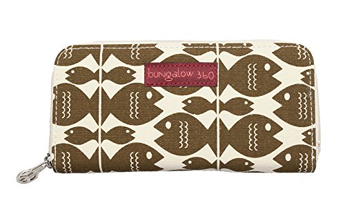 Price comparison product image Bungalow360 Women's Accessories - Fish Collection (Zip Around Wallet)