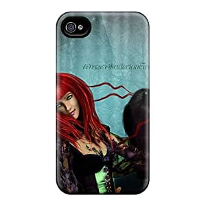Iphone High Quality Tpu Case/ Sweet Gothic Raven SMirNfO766JzcXp Case Cover For Iphone 4/4s by lolosakes