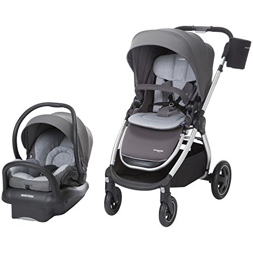Maxi-Cosi Adorra Modular 5-in-1 Travel System with Mico Max 30 Infant Car Seat, Loyal Grey