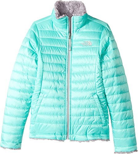 The North Face Girl's Reversible Mossbud Swirl Jacket - Bellflower Purple - XL (Past Season) Breathable Fleece Reversible Jacket