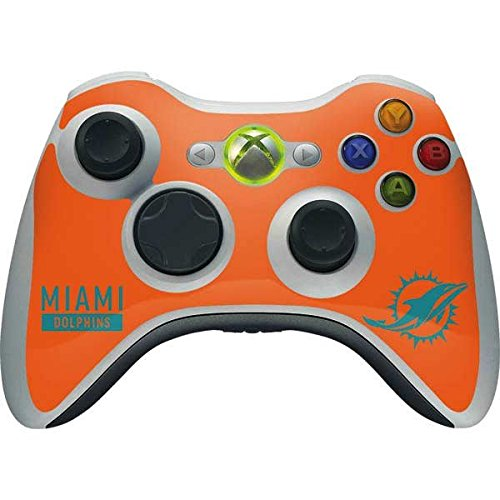 (Skinit NFL Miami Dolphins Xbox 360 Wireless Controller Skin - Miami Dolphins Orange Performance Series Design - Ultra Thin, Lightweight Vinyl Decal Protection)