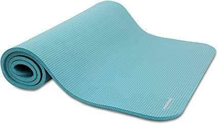 Amazon Com Empower Deluxe Fitness Mat Teal Exercise Mats Sports Outdoors