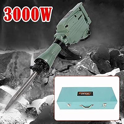 Martillo perforador de cincel martillo de demolici/ón 3200 W OUKANING 26 x 400 mm 220 V
