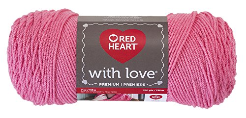 Red Heart E400.1704 Love Yarn, Bubblegum, Solid - Bubble Gum ()