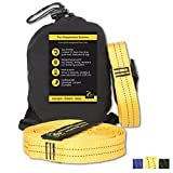GOLDEN EAGLE Summer Sale - Hammock Straps Set XL Pro - 100% No Stretch Camping Tree Hanging Suspension System Heavy Duty - 23 Loops Each. Length - 118 in (Yellow)