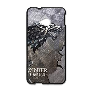 Happy Winter coming bald eagle map Cell Phone Case for HTC One M7