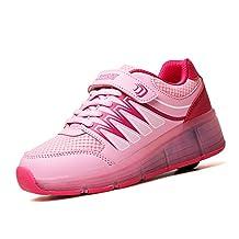 Kids Luminous Shoes Rechargeable Light up Shoes Boys Girls LED Light Roller Skate Shoes