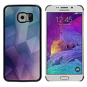 EJOY---Cubierta de la caja de protección la piel dura para el / Samsung Galaxy S6 EDGE / --Patrón Geometría de neón