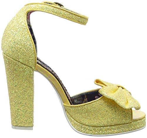 Irregular Choice Flaming June - Sandalias de tobillo Mujer Amarillo (Yellow)