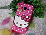 Qzey Nice Kitty Back Cover For Samsung Galaxy J1 Ace - Pink