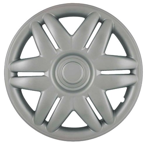 (CCI IWC205-15S 15 Inch Clip On Silver Finish Hubcaps - Pack of 4)