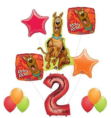 (Mayflower Products Scooby Doo 2nd Birthday Party Supplies and Balloon Decorations)
