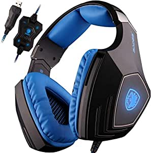 SADES A-60 Vibration Function and 7.1 Surround Sound Professional Gaming Headphones Games Headset