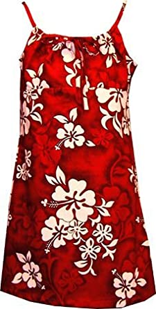 Amazon.com: White Hibiscus Hawaiian Dress - Girls Hawaiian Dress ...