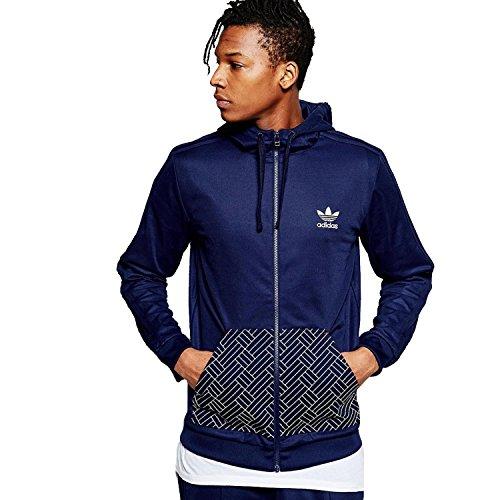 adidas Originals Men's Budo Full Zip Hoodie - Navy - M