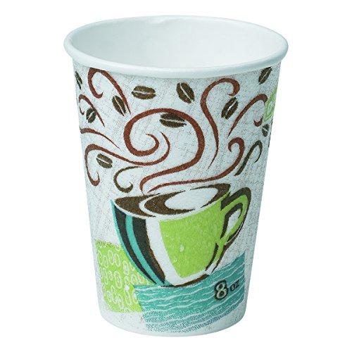 Dixie 5338DX Hot Cups, Paper, 8oz, Coffee Dreams Design (Case of 500)
