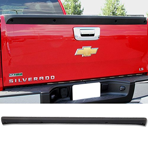 (Tailgate Protector Fits 2007-2013 Chevy Silverado & GMC Sierra | PP Unpainted Black Tailgate Cover by IKON MOTORSPORTS | 2008 2009 2010 2011 2012)