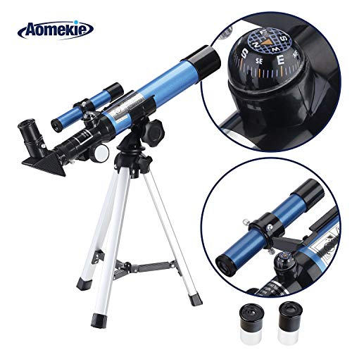 Fantastic Deal! Aomekie Kids Telescope for Astronomy Beginners Refractor Telescopes with Tripod Find...