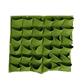 Hengwei Vertical Hanging Wall Planter with 36 Roomy Pockets for Herbs Or Flowers. Great Addition to Your Outdoor Garden and Patio Areas. (36 Pocket, Green)
