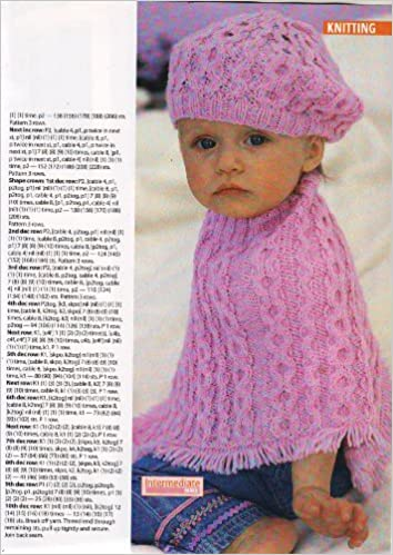 Baby Girls and Childrens Poncho and Hat Knitting Pattern: 5