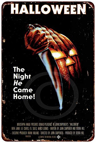 Halloween Movie Poster Vintage Reproduction Metal Sign 8 x 12