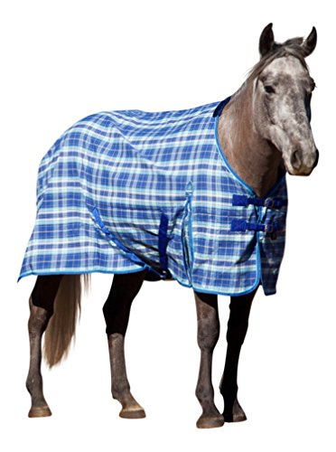 Kensington KPP Poly Day Sheet, Blue Ice Plaid, 75 Horse Fly Sheet