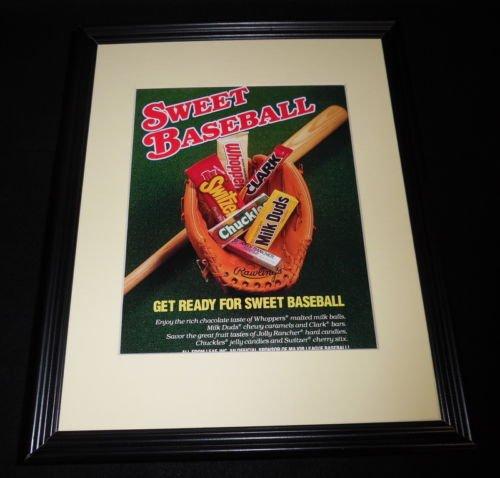 1988 Leaf Candy Whoppers Clark Bar Framed 11x14 ORIGINAL Advertisement - Clark Bar Candy Bar