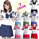 7-Colors-Japanese-Anime-Sailor-Style-Student-School-Girl-Costume-Uniforms-Dress