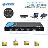 Orei UltraHD 4K @ 60 Hz 1 X 4 HDMI Splitter 1 in 4 Out 4 Port 4: 8-Bit - HDMI 2.0, HDCP 2.18 Gbps