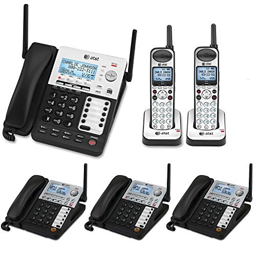 AT&T SynJ 4-Line Corded/Cordless Business Phone System with 3 Cordless Desksets & 1 Cordless Handsets (Cordless System Business)