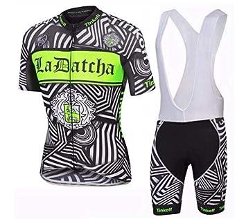 ZHLCYCL Traje Ciclismo Hombre para Verano, Ciclismo Maillot y Culotte Ciclismo Culote Bicicleta con 5D Gel Pad para Deportes al Aire Libre Ciclo ...