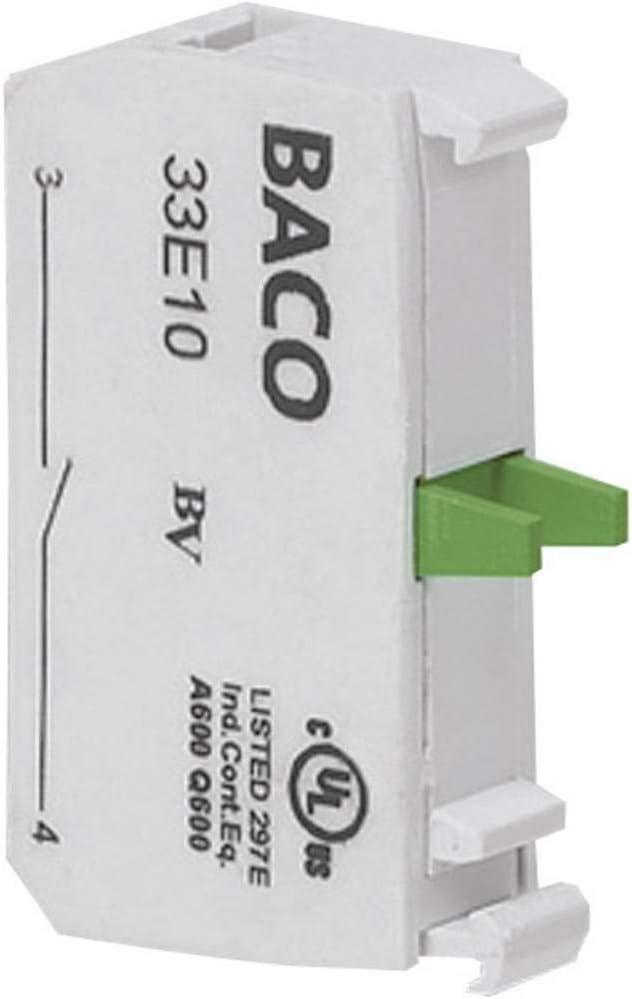 BACO 33E10 Kontaktelement 1 Schlie/ßer tastend 600V