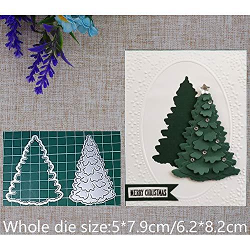 Christmas Tree Metal Cutting Die Stencil DIY Scrapbooking Embossing Decor Photo Album Paper Card Craft Makings (Making Tree A Christmas)