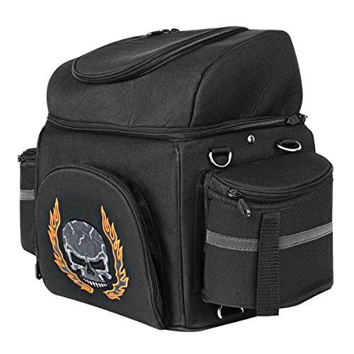 Leather Motorcycle Luggage Rack Bag - 7