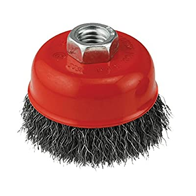 IVY Classic 39042 4-Inch x 5/8-Inch-11 Arbor, Carbon Steel Crimped Wire Cup Brush - 0.012-Inch Coarse, 1/Card