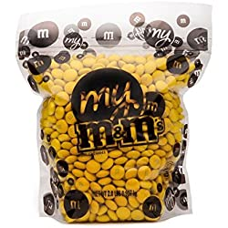 All Color M&M'S Bulk Candy Bag (Yellow, 2 LB)