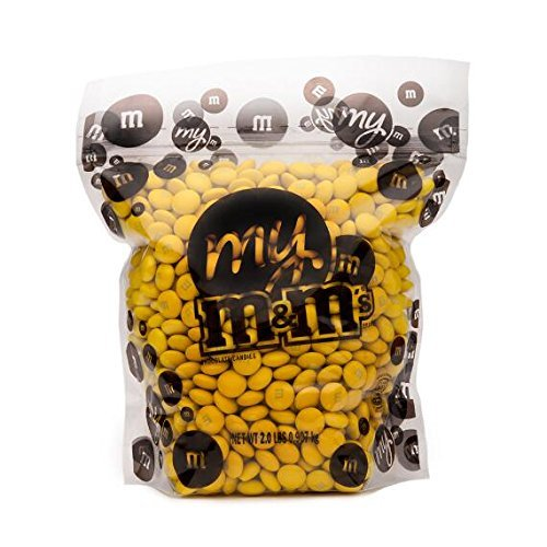 All Color M&M'S Bulk Candy Bag (Yellow, 5 LB) by First Choice Candy