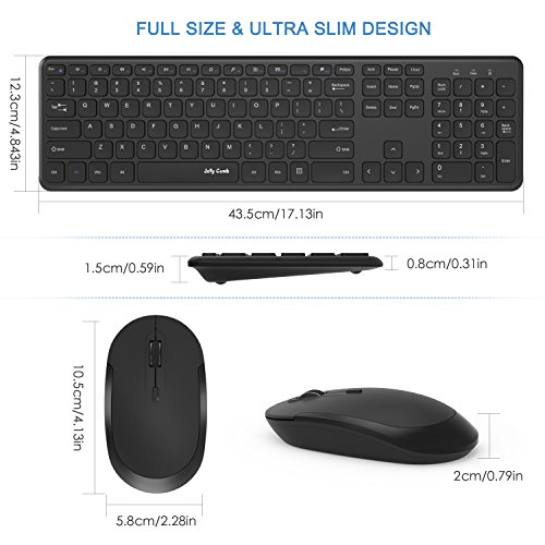 Review Wireless Keyboard Mouse, Jelly