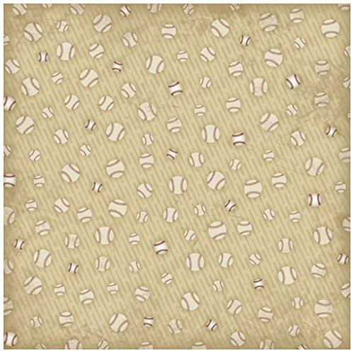 Karen Foster Design Scrapbooking Paper, 25 Sheets, Baseball Shuffle, 12 x 12