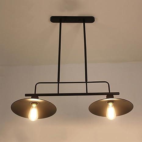 GJ- Loft Americana Retro Viento Industrial lámpara de Hierro ...